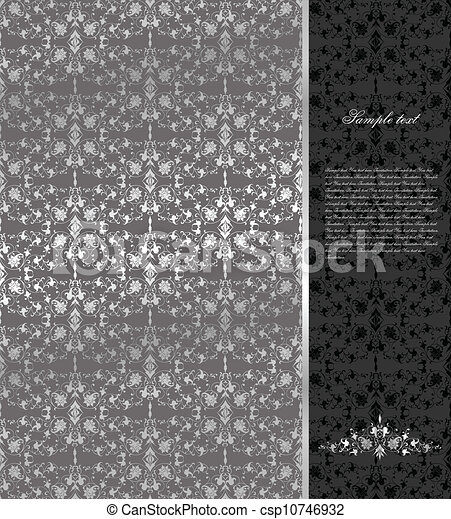 Antecedentes de plata sin flora. Vector - csp10746932