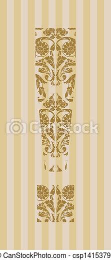 Floral font. Symbol ! - csp14153795