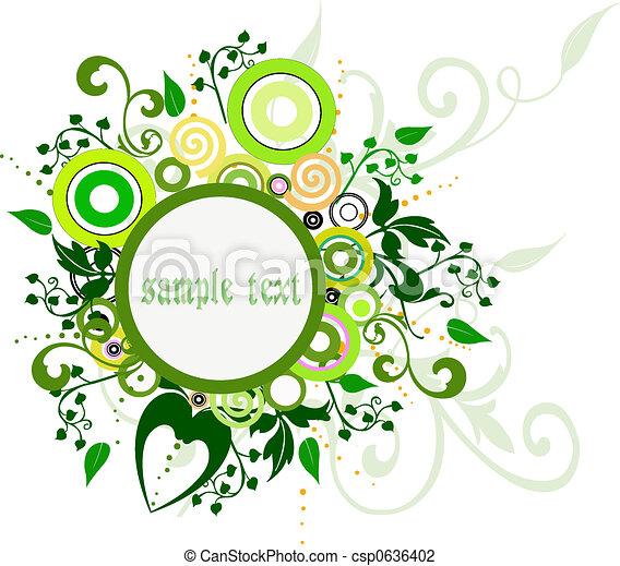 Floral frame - csp0636402