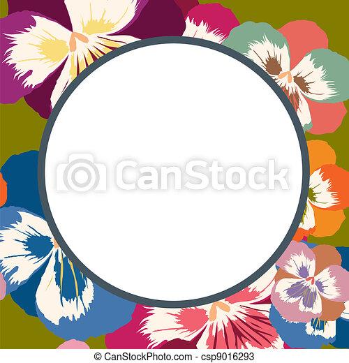 Floral frame - csp9016293