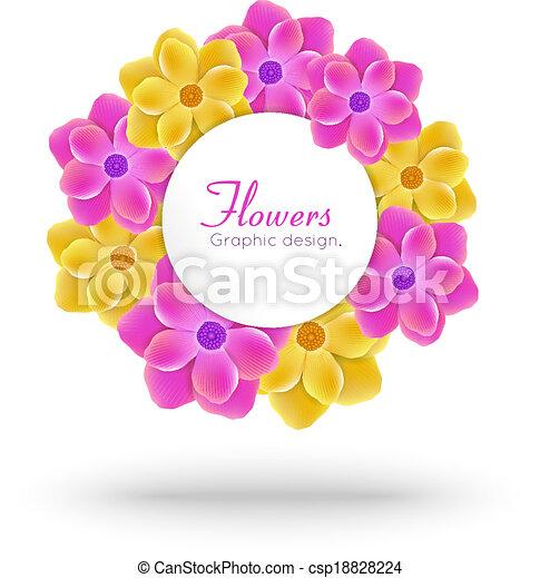 floral frame - csp18828224