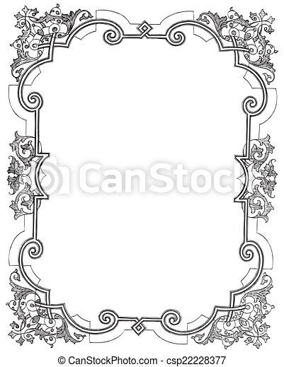 Floral frame - csp22228377