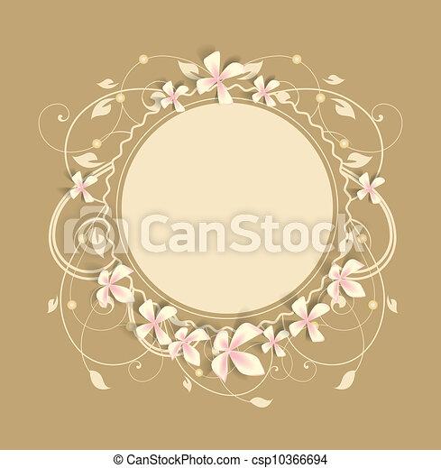 floral, frame - csp10366694