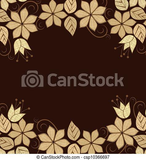floral, frame - csp10366697