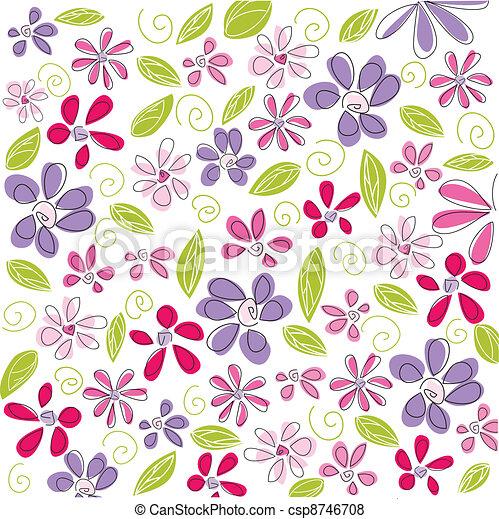 floral, fundo, páscoa - csp8746708