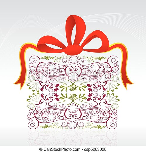 floral gift card - csp5263028