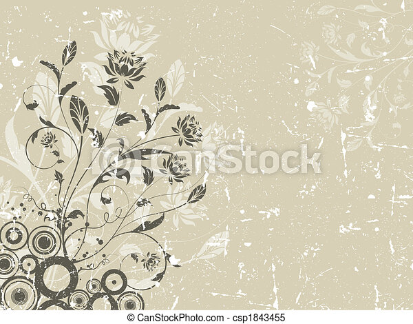 Floral grunge background - csp1843455