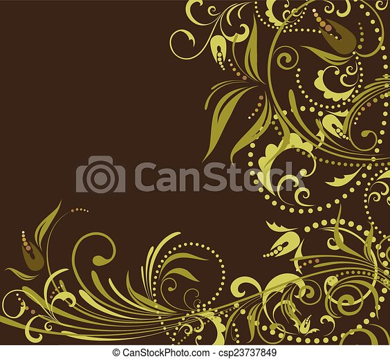 Floral grunge background - csp23737849