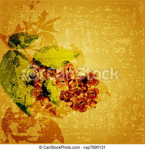 Floral grunge background - csp7690131