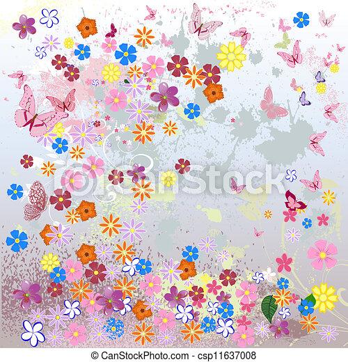 Floral grunge background - csp11637008