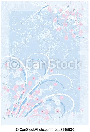 Floral grunge background - csp3145930