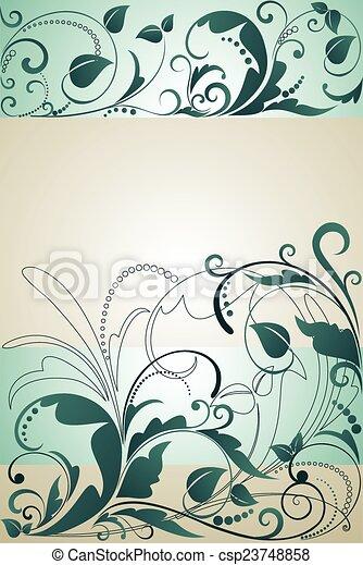 Floral grunge banner - csp23748858