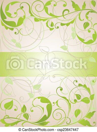 Floral grunge banner - csp23647447