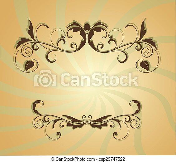 Floral grunge banner - csp23747522