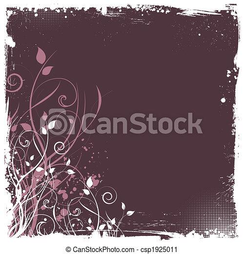 Grunge floral - csp1925011