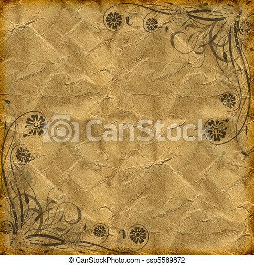 floral grunge - csp5589872