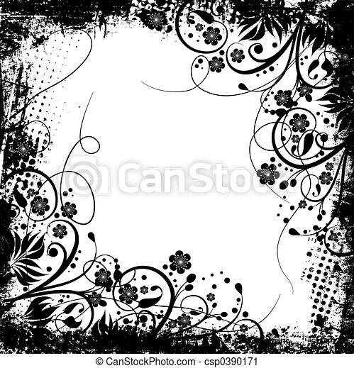 Floral grunge - csp0390171
