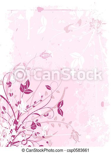 Floral grunge - csp0583661