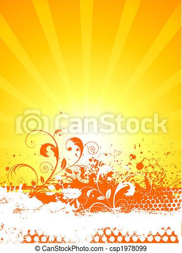 Grunge floral - csp1978099