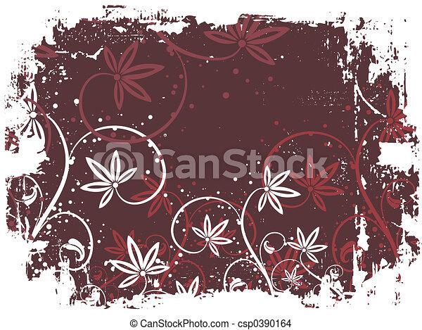 Floral grunge - csp0390164