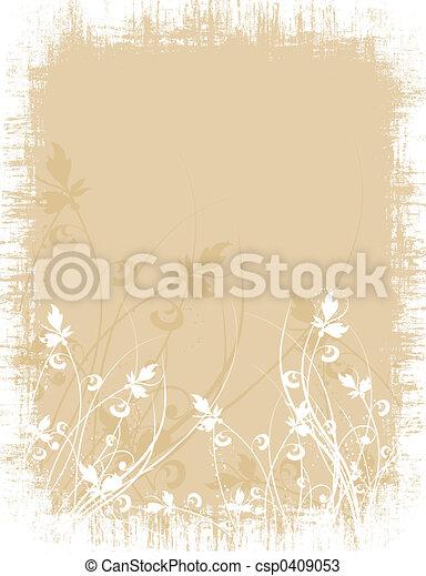 Floral grunge - csp0409053