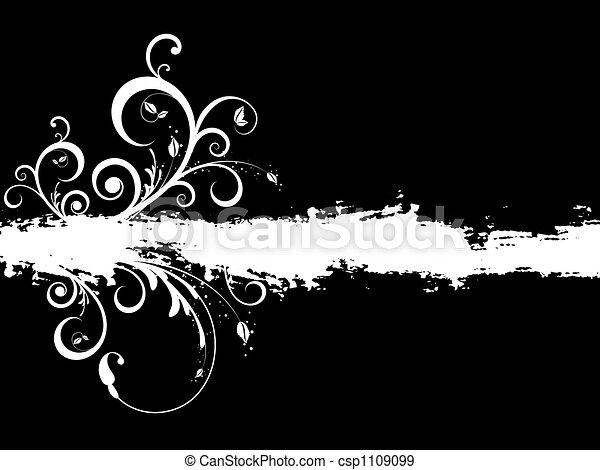 Floral grunge - csp1109099