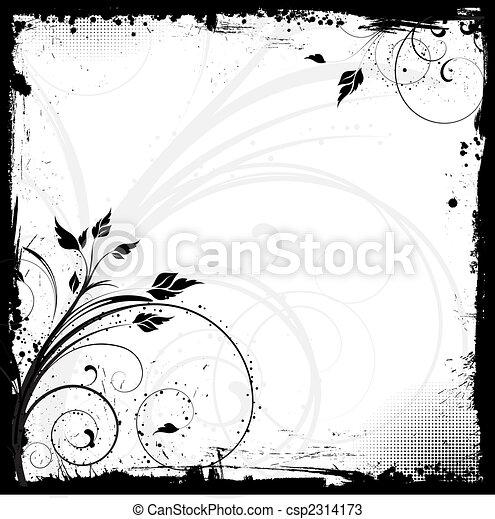 floral grunge - csp2314173