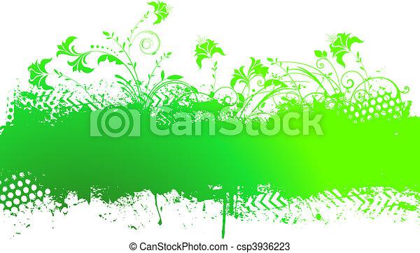 Floral grunge - csp3936223