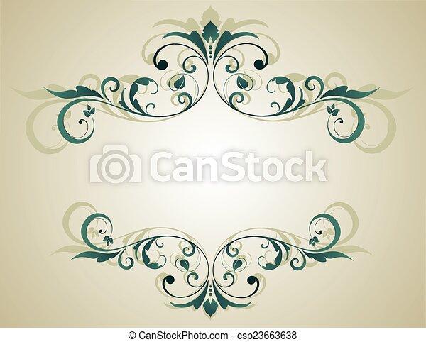 Floral grunge frame - csp23663638