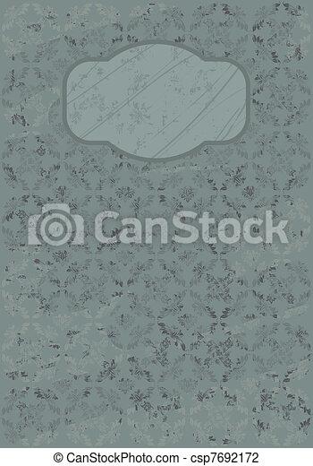 floral grunge pattern - csp7692172