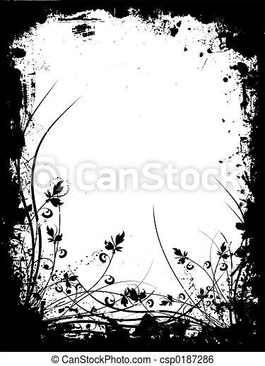 Floral grunge - csp0187286