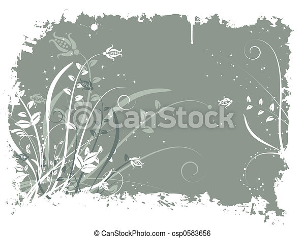 Floral grunge - csp0583656