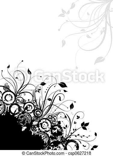 Floral grunge - csp0627218