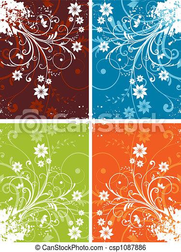 Floral grunge - csp1087886