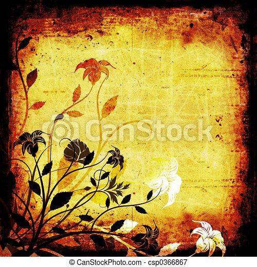 Floral grunge - csp0366867