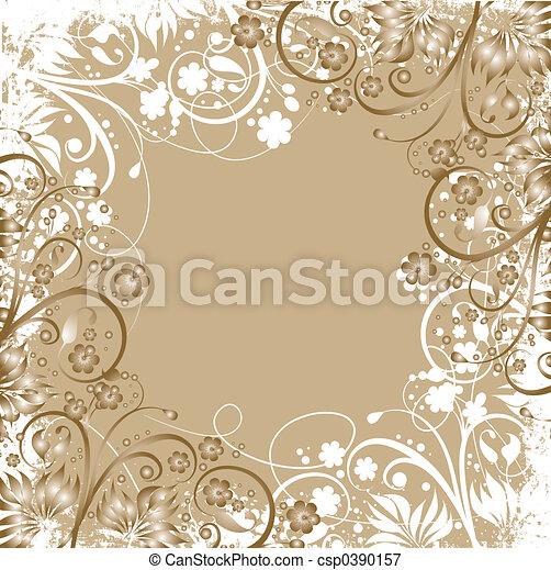 Floral grunge - csp0390157