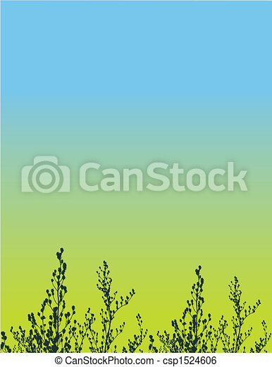 floral grunge vector background - csp1524606