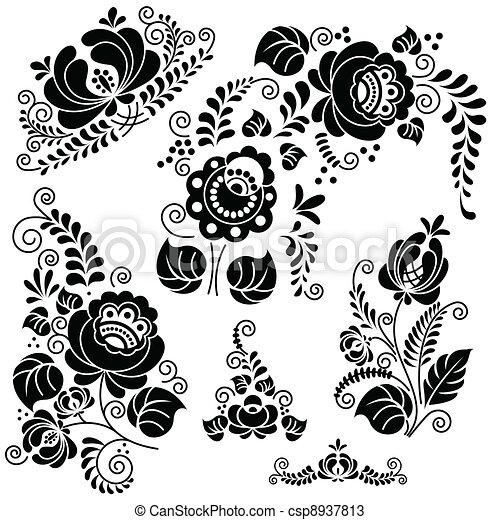floral, gzel - csp8937813