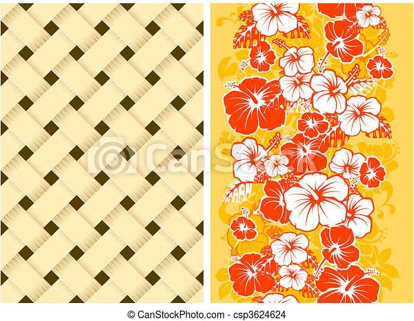 Un fondo floral hawaiano sin manchas - csp3624624