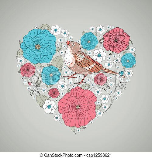 Floral Heart  - csp12538621