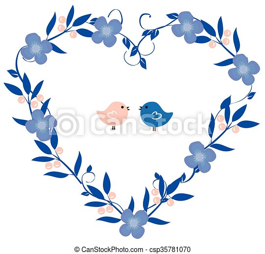 Floral Heart - csp35781070