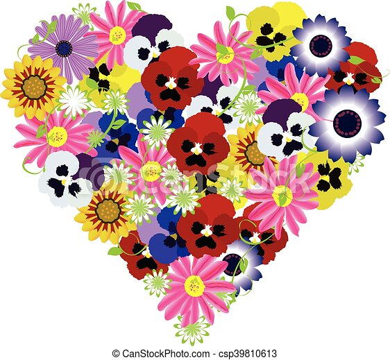 floral heart - csp39810613