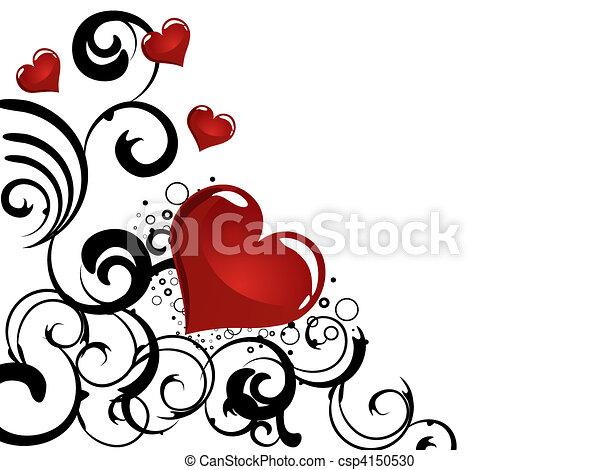 floral heart - csp4150530