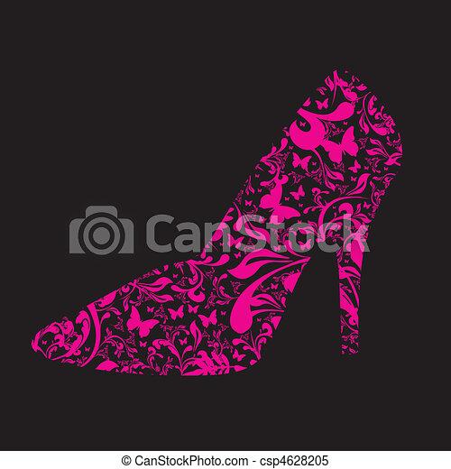 floral high heel - csp4628205