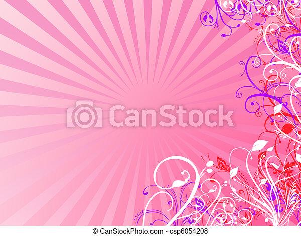 Floral illustration - csp6054208