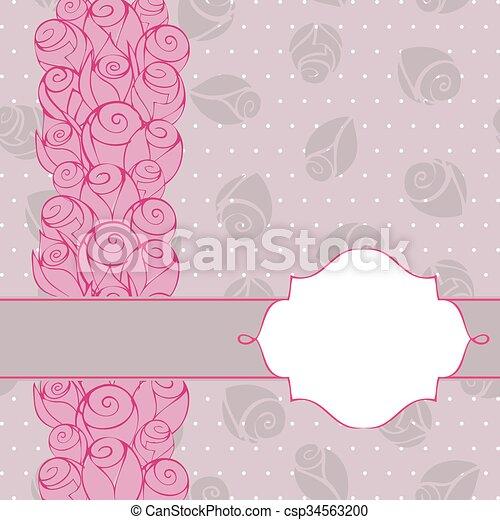 Floral Invitation Background Design