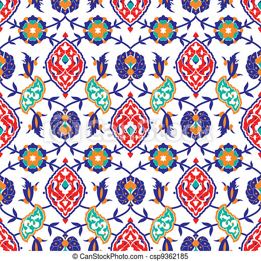 Floral Islamic Pattern   Csp9362185
