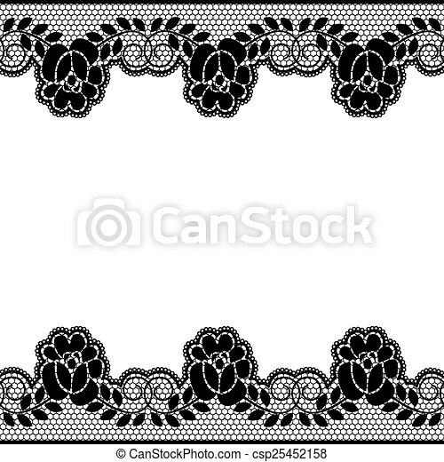 floral lace borders seamless black lace border with floral pattern