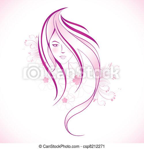 Floral Lady - csp8212271