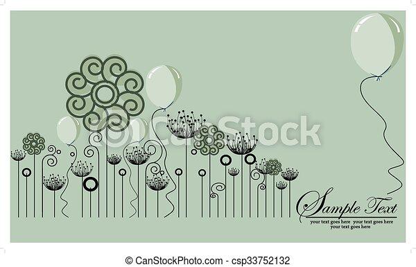 Bonito fondo floral - csp33752132